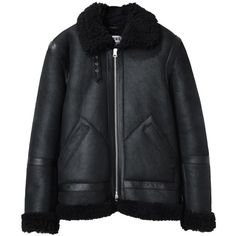 Acne Studios Ian Shearling Jacket (1.284.620 CLP) ❤ liked on Polyvore featuring mens, men's clothing, men's outerwear, men's jackets, outerwear, jackets, coats and coats & jackets