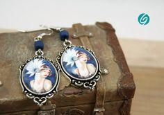 Tons bleus 2 Barrettes /à cheveux Cabochon 12 mm bleu pastel bleu canard