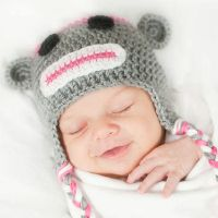 Sock Monkey Newborn Hat- Newborn Photo Prop