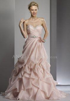 Organza A line Sweetheart Dropped Floor Length Sleeveless Wedding Dress