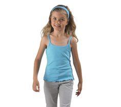 T-shirt voor meisjes met spaghettibandjes, 220 gr/m2
