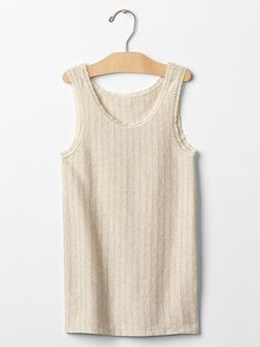 Ribbed lace tank Product Image
