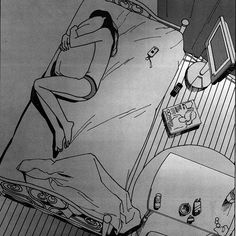 love lost death art girl depressed sad lonely anime white room pain sleep alone black draw bed manga dark phone cry grey Sad Anime Girl, Anime Art Girl, Manga Art, Sad Drawings, Arte Obscura, Sad Art, Art Sketchbook, Animes Wallpapers, Cartoon Art