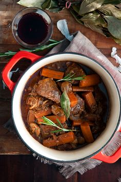 Classic and most comforting French beef and red wine stew - Boeuf bourguignon