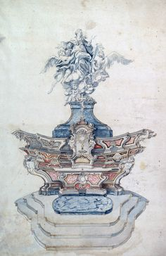 Claude David (?) - Design for a High Altar. #altar   #assumption
