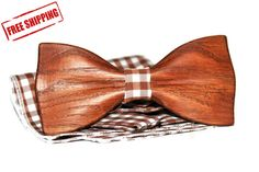 Accessories For Men Gift for Man Custom bow tie Wooden bow tie Wood Bow Tie Personalized Bowtie by woodton Custom Bow Ties, Wooden Bow Tie, Bow Tie Wedding, Men With Street Style, Mens Style Guide, Wood Gifts, Tie And Pocket Square, Gifts For Him, Handmade Items