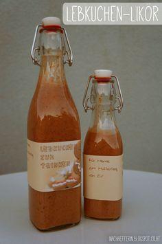 Lebkuchen-Likör: ein Last-Minute-Geschenk zum Muttertag Hot Sauce Bottles, Blogging, Food, Last Minute Gifts, Ginger Beard, Essen, Meals, Yemek, Eten