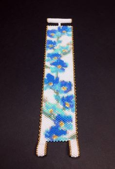 PATTERN Single Peyote Forget Me Nots II Bracelet