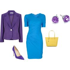 """Bright Spring - bright blue"" by adriana-cizikova on Polyvore"
