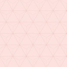 love this wallpaper! design by Eijffinger® vliesbehang driehoek roze | Behang | Behang | KARWEI