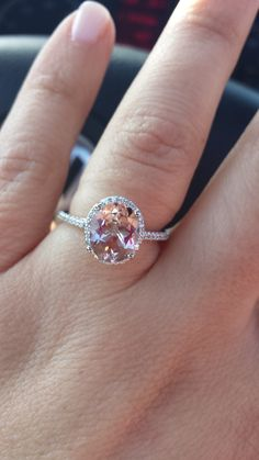 Opinion on Morganite engagement ring??! Show me your engagement rings! - Weddingbee