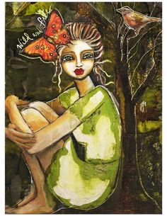 Wild and Free by Lisa Ferrante  http://www.etsy.com/listing/66901278/wild-and-free-fine-art-print-of-mixed
