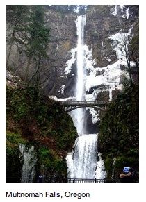 Places to See in Oregon | Places to see / Multnomah Falls, Oregon