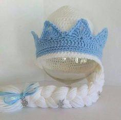 Artículos similares a De congelados Elsa inspiró sombrero con trenza 515772f549f
