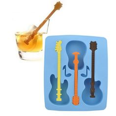 Guitar Shaped Ice Cube Mold