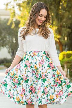 Kathleen Garden Floral Midi Skirt