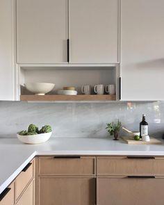 Country Home Interior .Country Home Interior Contemporary Kitchen Cabinets, Modern Kitchen Design, Interior Design Kitchen, Minimal Kitchen, Neutral Kitchen, Modern Design, Home Decor Kitchen, New Kitchen, Home Kitchens