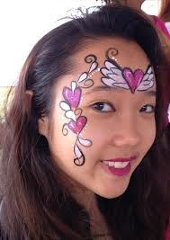 valentine day face painting - Google Search