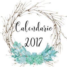 Calendario 2017 en pdf, listo para descargar e imprimir.