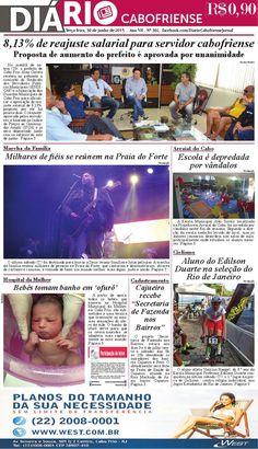 A edição on line do DIÁRIO CABOFRIENSE de terça-feira, 30 de junho. Folheie aqui <3  Telma Flora | editora chefe <3