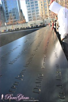 Beautiful 9/11 memorial - New York City with new World Trade Center - amazing large pools, NYC, Manhattan, WTC, remember