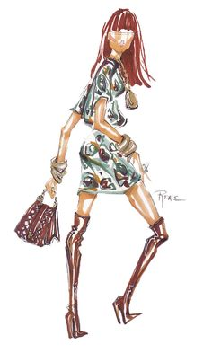 Gallery of Fashion Illustrations and Designs by Renie Hanna