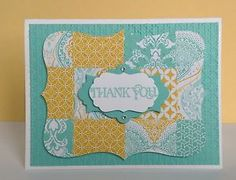 Stampin Up Quilted Thank You Card Kit
