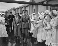 Part of the Library's site in Boston Spa was once the Royal Ordnance Factory Thorp Arch in World War II. - This photo shows a Royal Visit from HM King George VI and HM Queen Elizabeth in 1941. - Courtesy of the @I_W_M,