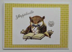 Kortti ylioppilaalle pöllö