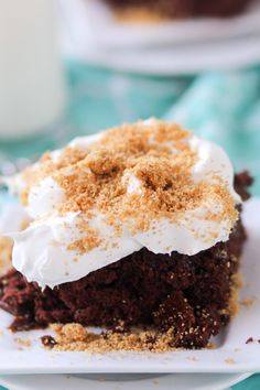 Chocolate Cream Pie Poke Cake Pic