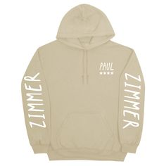 "Paul Zimmer ""Paul"" Hoodie Available for 2 weeks only!    More styles available in the drop down menu.    **Worldwide Shipping Available**"
