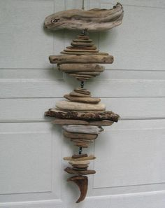Driftwood Mobile With Blue Beads (DC304). $29.00, via Etsy.