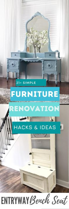 Here are 20 of the BEST old Furniture Makeover Ideas you have to see for yourself Simple Furniture, Old Furniture, Repurposed Furniture, Furniture Makeover, Good Old, Storage, Diy, Inspiration, Ideas
