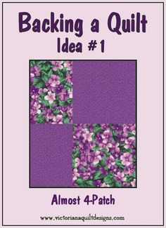 Backing a Quilt Idea #1 - Almost 4-Patch