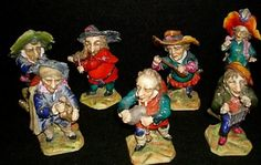 "This is a Set of Seven (7) ""Gnome"" Musicians. Museum Quality CAPODIMONTE, 1760-1800. These are Originals, all Authentic, From Magnificent Estate Sale in the 1970s. Each Figurine is Unique. All Playing musical instruments"