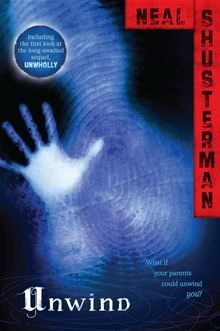 """In a society where unwanted teens are salvaged for their body parts, three runaways fight the system that would """"unwind"""" them... Unwind by Neal Shusterman. Get this eBook on #Kobo: http://www.kobobooks.com/ebook/Unwind/book-DYAdkfiV5E64AVphxF3QBQ/page1.html?s=wSENAO2VhE2IxjsQsnnrUA=1"""