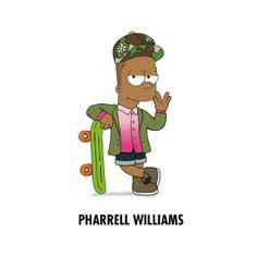 Pharrell Williams is Bart by Zhi-Yun Zhang