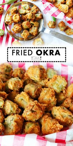 The best Fried Okra you've ever had — guaranteed! Featuring the South's favorite summertime veggie, fresh okra, dredged in flour and fried until golden. It's the perfect Southern side dish for the summer! This Fried Okra Recipe is equipped with amazing flavor thanks to a seasoned flour that can't be beat and tips for frying to perfection! Southern Side Dishes, Southern Recipes, Okra Fries, Okra Recipes, Homemade Cornbread, Green Beans And Tomatoes, Feeding A Crowd, Side Dish Recipes, Summertime
