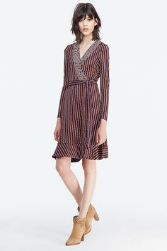 DVF Kayleen Silk Jersey and Chiffon Wrap Dress   Landing Pages by DVF