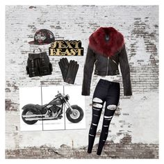 """""""Biker in black"""" by officainstacute on Polyvore featuring art"""