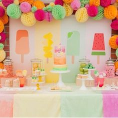 Popsicle birthday party decor