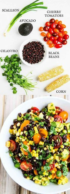 Chipotle Black Bean Tomato Corn Avocado Salad - serve as a dip or on a bed of baby arugula for a complete salad - perfect for summer barbecues and picnics! ~ jeanetteshealthyl... @PeapodDelivers #ad