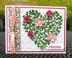 Krystals Cards: Stampin' Up! Bllomin' Love Friend #krystals_cards #stampinup #bloominlove #onlinestampclass #handstamped #cardmaking