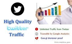 I will drive UNLIMITED Twitter Traffic to your website for 30 days for $5, on fiverr.com