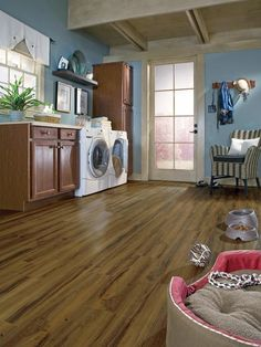 Pet-Friendly Space in Beautiful and Efficient Laundry Room Designs from HGTV