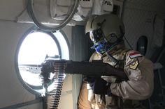 Mi 17 machine gunner operator
