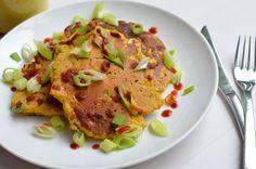 i eat vegan: Pumpkin, Corn + Cabbage Chickpea Omelettes