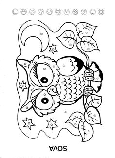 Sova Free Coloring Pages, Coloring Books, Sudoku, Embroidery Designs, Snoopy, Templates, Cartoon, Fall, Blog