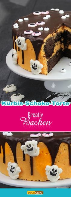 Halloween Torte, Cake, Desserts, Food, Cake Ideas, Dessert Ideas, Ghosts, Pies, Creative