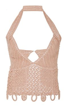 JONATHAN SIMKHAI PEARL CROCHETED COTTON TOP. #jonathansimkhai #cloth #